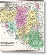 1827 Finley Map Of Belgium And Luxembourg Metal Print