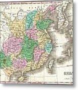 1827 Finley Map Of China  Metal Print