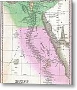 1827 Finley Map Of Egypt Metal Print