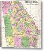 1827 Finley Map Of Georgia Metal Print