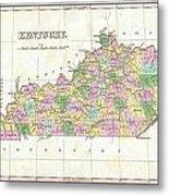1827 Finley Map Of Kentucky Metal Print