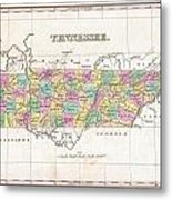 1827 Finley Map Of Tennessee Metal Print
