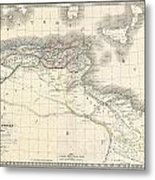1829 Lapie Historical Map Of The Barbary Coast In Ancient Roman Times Metal Print