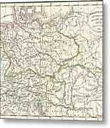 1832 Delamarche Map Of Germany In Roman Times Metal Print