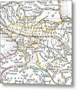 1835 Bradford Map Of Turkey In Asia And The Caucases Metal Print