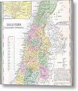 1836 Tanner Map Of Palestine  Israel  Holy Land Metal Print
