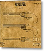 1837 Leavitt Revolver Patent Art 1 Metal Print