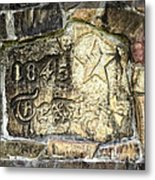 1845 Republic Of Texas - Carved In Stone Metal Print