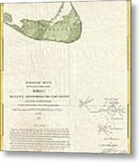 1846 Us Coast Survey Map Of Nantucket  Metal Print by Paul Fearn