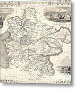 1851 Tallis And Rapkin Map Of Independent Tartary  Metal Print