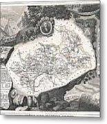 1852 Levasseur Map Of The Department Hautes Alpes France  Metal Print