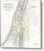 1852 Philip Map Of Palestine  Israel  Holy Land Metal Print