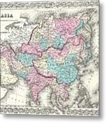 1855 Colton Map Of Asia Metal Print