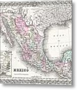 1855 Colton Map Of Mexico - Geographicus1855 Colton Map Of Mexico - Geographicus Metal Print