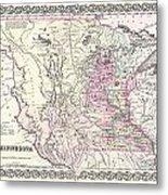 1855 Colton Map Of Minnesota Metal Print