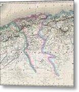 1857 Dufour Map Of Algeria Metal Print