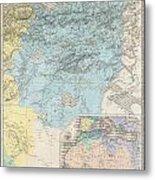1857 Dufour Map Of Constantine Algeria Metal Print