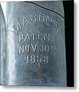 1858 Masons Jar Metal Print