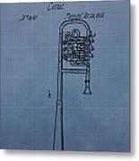 1858 Trumpet Patent Metal Print