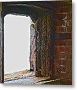 1861 Cannon Turret Fort Point San Francisco Bay Metal Print