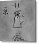 1861 Oil Lamp Patent Metal Print
