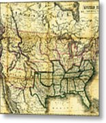 1861 United States Map Metal Print