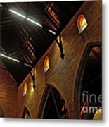 1865 - St. Jude's Church  - Interior 2 Metal Print by Kaye Menner