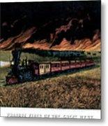1870s Prairie Fires Of The Great West - Metal Print