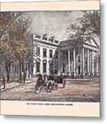 1870's White House Metal Print
