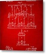 1873 Brewing Beer And Ale Patent Artwork - Red Metal Print