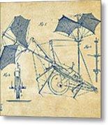 1879 Quinby Aerial Ship Patent Minimal - Vintage Metal Print