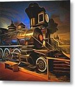 1880 Steam Locomotive  Metal Print