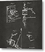 1881 Taylor Camera Obscura Patent Gray Metal Print