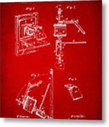 1881 Taylor Camera Obscura Patent Red Metal Print