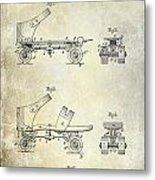 1885 Roller Skate Patent Drawing Metal Print