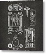 1889 First Computer Patent Gray Metal Print