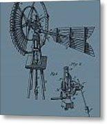 1889 Windmill On Blue Metal Print