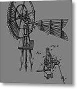 1889 Windmill Patent Metal Print