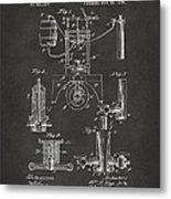 1890 Bottling Machine Patent Artwork Gray Metal Print