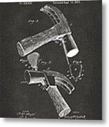 1890 Hammer Patent Artwork - Gray Metal Print