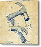 1890 Hammer Patent Artwork - Vintage Metal Print