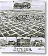 1890 Vintage Map Of Seymour Texas Metal Print
