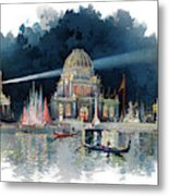 1890s Night In Grand Court Of World Metal Print