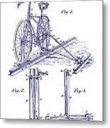 1891 Bicycle Patent Blueprint Metal Print