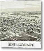 1891 Vintage Map Of Whitewright Texas Metal Print