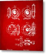 1892 Barker Camera Shutter Patent Red Metal Print