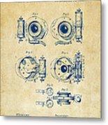 1892 Barker Camera Shutter Patent Vintage Metal Print
