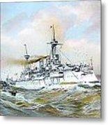 1895 - The Brandenburg Squadron At Sea - Color Metal Print