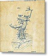 1896 Dental Chair Patent Vintage Metal Print