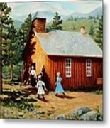 1896 School House Metal Print
